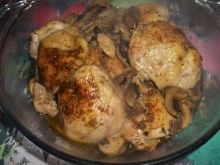 Kurczak pieczony z pieczarkami