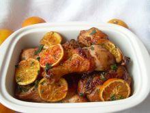 Kurczak pieczony z pomarańczami