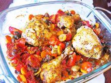 Kurczak pieczony z pomidorami