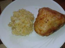Kurczak pieczony z ryżem w przyprawach