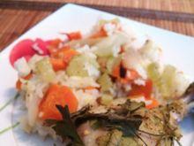 Kurczak pieczony z warzywami i ryżem