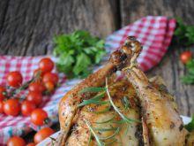 Kurczak pieczony z ziemniakami i pomidorami
