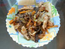 Kurczak smazony z grzybami mun