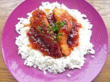 Kurczak topielec w pikantnych morelach
