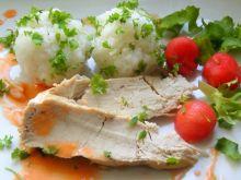 Kurczak w arbuzowej potrawce z ryżem jaśminowym