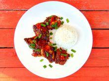 Kurczak w azjatyckim sosie BBQ