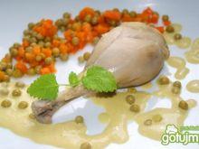 Kurczak w groszkowym sosie