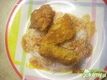Kurczak w grubej panierce na ostro