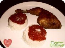 Kurczak w imbirze w sosie pomidorowym