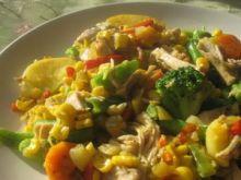 Kurczak w kolorowych warzywach wg Piotra