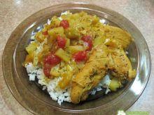 Kurczak w mango, ananasie i arbuzie