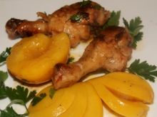 Kurczak w ostrych brzoskwiniach