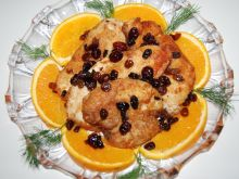 Kurczak w pomarańczach