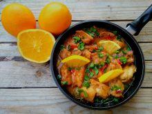 Kurczak w sosie pomarańczowo-sojowym