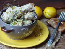 Kurczak w sosie porowo-śmietanowym