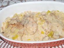 Kurczak w sosie porowym