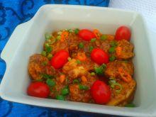 Kurczak w sosie tamaryndowym z makiem