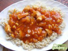 Kurczak w sosie z ryżem