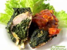 Kurczak w szpinaku i sosie chińskim