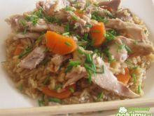 Kurczak z brązowym ryżem
