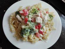 Kurczak z brokułami i mascarpone