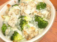 Kurczak z brokułem zapiekany pod kołderką
