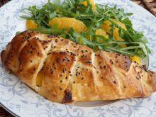 Kurczak z brzoskwinią i serem pleśniowym