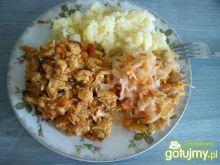Kurczak z chińskimi warzywami