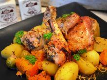 Kurczak z dynią i brukselką