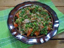 Kurczak z groszkiem - resztkowa kolacja