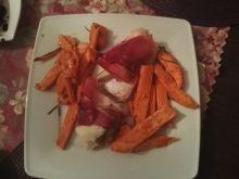 Kurczak z gruszką, gorgonzolą i szynką parmeńską