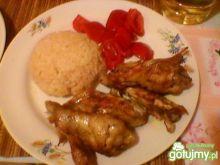 Kurczak z paprykowym ryżem