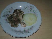 Kurczak z parowaru w koperku z ziemniaczkami