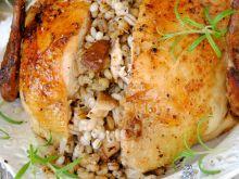 Kurczak z pęczakiem i grzybami