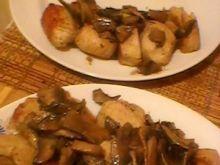 Kurczak z pieczarkami i cebulą