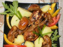 Kurczak z pieczarkami na pikantnie