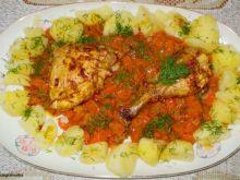 Kurczak z pomarańczowa  marchewką