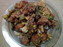 Kurczak z ryżem i warzywami