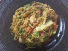 Kurczak z ryżem i warzywkami