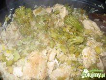 Kurczak z ryżem na zielono - z patelni