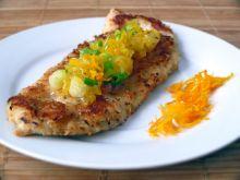 Kurczak z salsą pomarańczową