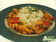 Kurczak z sosem tajskie czerwone curry