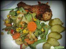 Kurczak z warzywami.
