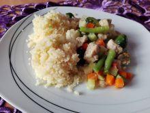 Kurczak z warzywami i kuskusem