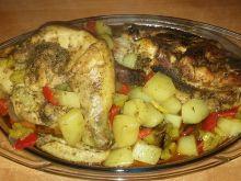 Kurczak z warzywami pieczony w rękawie