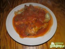 Kurczak z warzywami w sosie z pomidorów