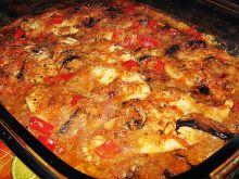 Kurczak z warzywami w zupie cebulowej i borowikowe