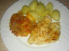 Kurczak z warzywnym spaghetti