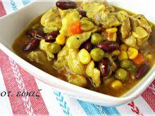 Kurczakowa potrawka z curry i kurkumą