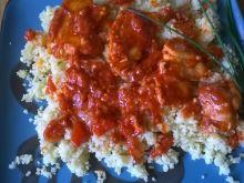 Kuskus z sosem pomidorowo - musztardowym